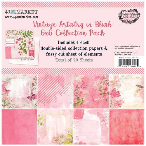 49 and Market Vintage Artistry Blush 6 x 6  Collection Pack