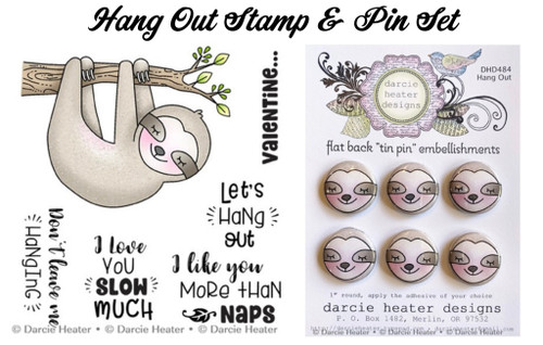 Darcie's Heart & Home Hang Out Stamp & Pin Set