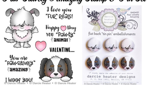 Darcie's Heart & Home Paw-Sitively Amazing Stamp & Pin Set
