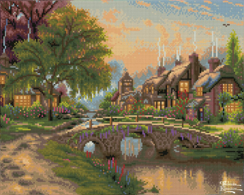 Diamond Dotz Cobblestone Bridge - Thomas Kinkade