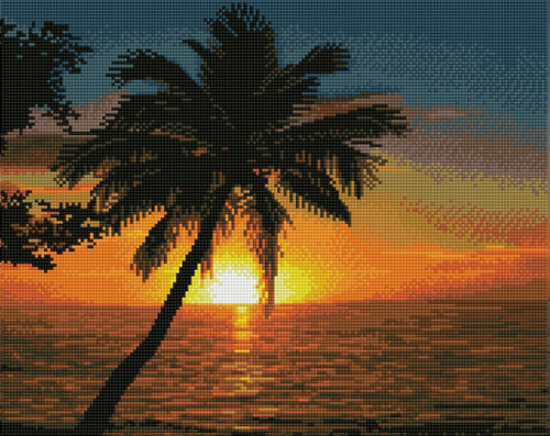 Diamond Dotz Tropical Sunset