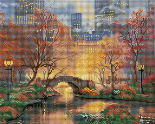 Diamond Dotz Central Park in the Fall - Thomas Kinkade
