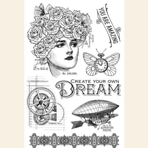Graphic 45 Dream Clear Acrylic Stamp Set