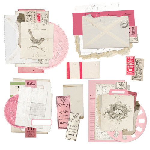 49 and Market Vintage Artistry Blush Ephemera Stack