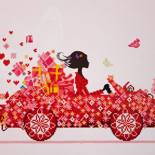 Diamond Dotz Colorful Carriage