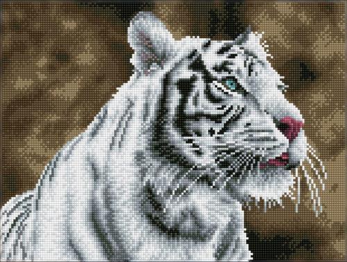 Diamond Dotz SQUARES Tiger Blanc