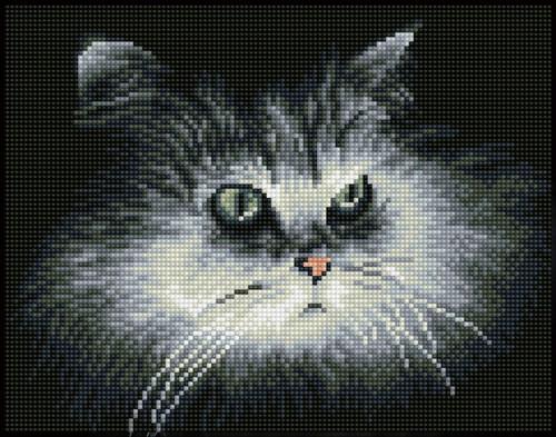 Diamond Dotz SQUARES Shadow Cat
