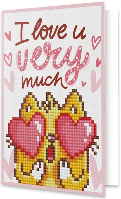 Diamond Dotz Love You Greeting Card
