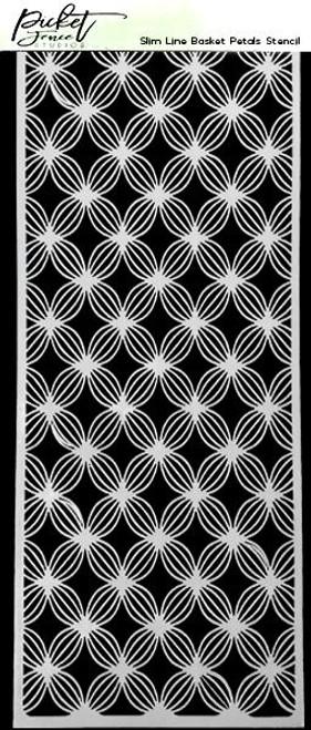 Picket Fence Studios Slim Line Basket Petals Stencil