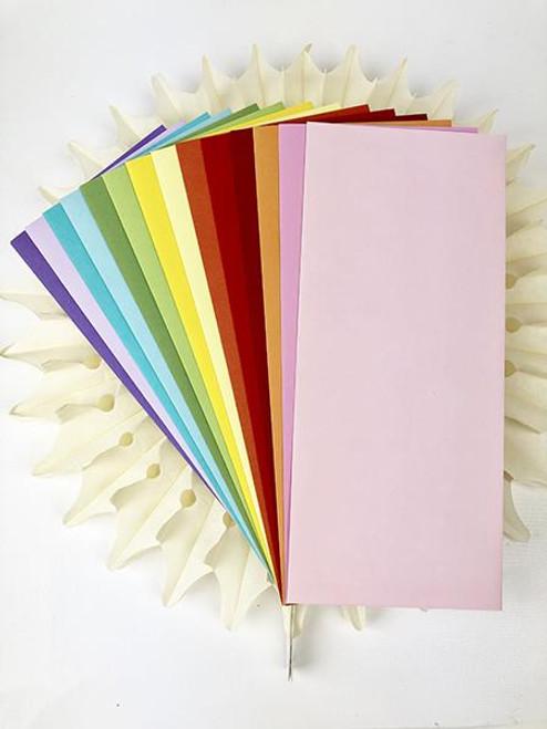 Picket Fence Studios  4.125 x 9.5 Slim Line Rainbow Envelopes