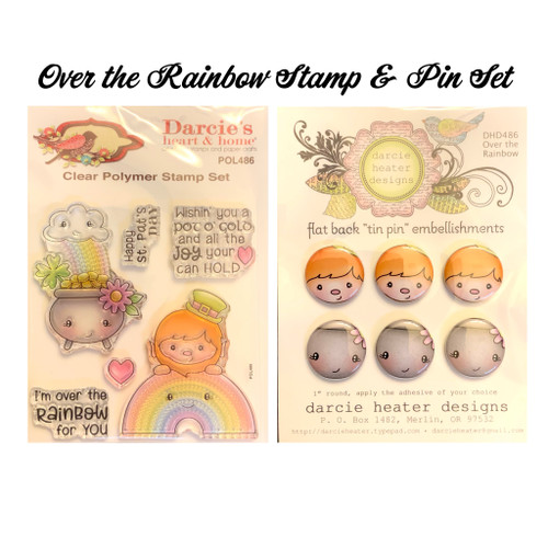Darcie's Heart & Home Over the Rainbow Stamp & Pin Set