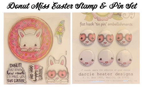 Darcie's Heart & Home Donut Miss Easter Stamp & Pin Set