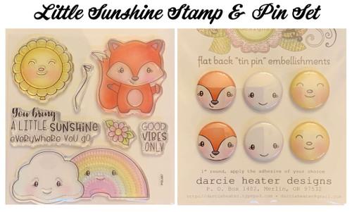 Darcie's Heart & Home Little Sunshine Stamp & Pin Set