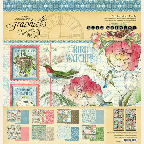 "Graphic 45 Bird Watcher 12"" x 12"" Collection Pack"