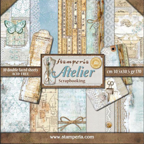 """Stamperia Atelier 12"""" x 12"""" Paper Collection"""