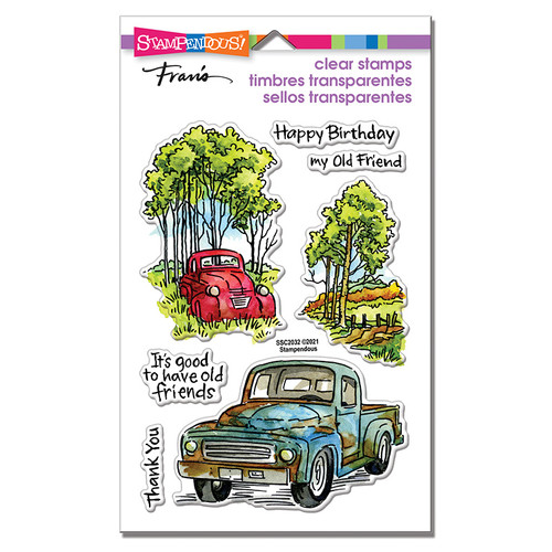 Stampendous Truck Friends Perfectly Clear Stamps