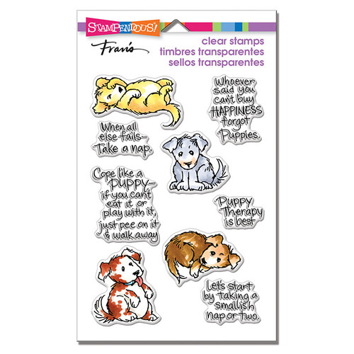 Stampendous Puppy Therapy Perfectly Clear Stamps