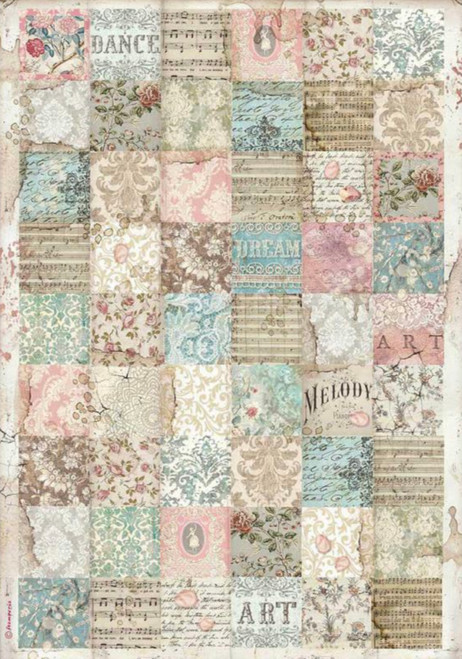 Stamperia A3 Rice Paper Passion Patchwork