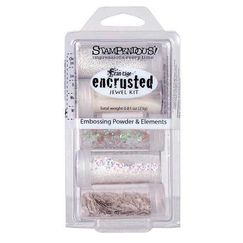 Stampendous Frantage Encrusted Jewel White Embossing Powder and Elements Kit