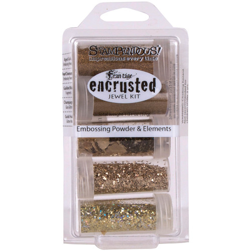 Stampendous Frantage Encrusted Jewel Gold Embossing Powder and Elements Kit