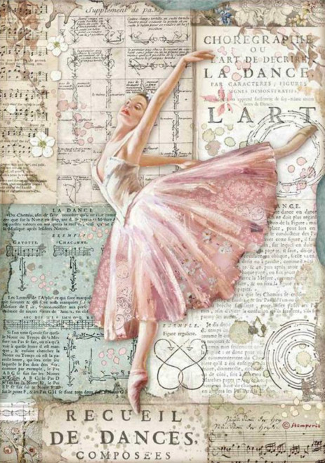 Stamperia A4 Rice Paper Passion Ballerina Dancer