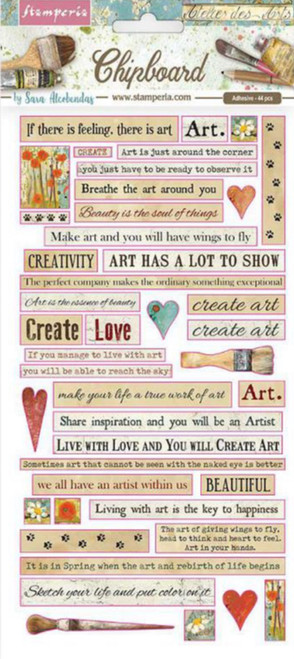 Stamperia Atelier Quotes Chipboard