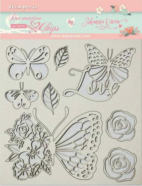 Stamperia Decorative Chips - Circle of Love Butterfly