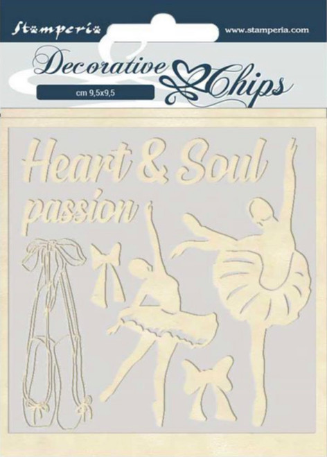 Stamperia Decorative Chips - Passion Dancer
