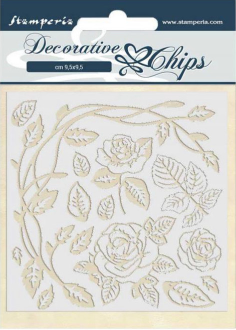 Stamperia Decorative Chips - Passion Roses