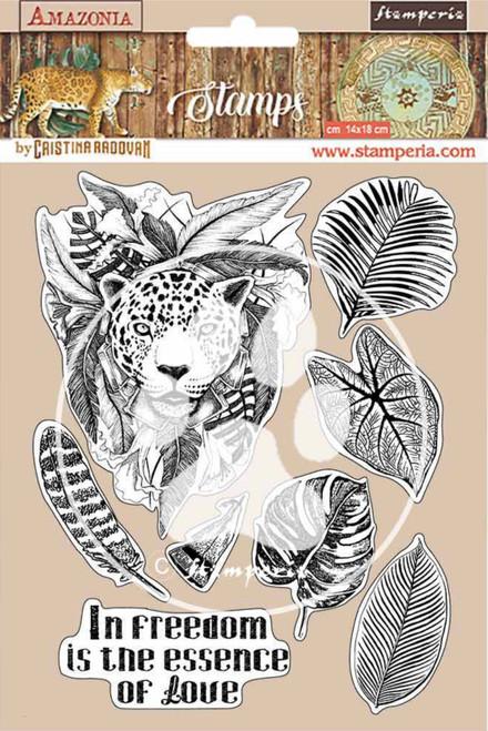 Stamperia HD Natural Rubber Stamp Set - Amazonia Jaguar