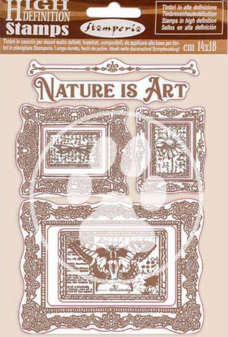 Stamperia HD Natural Rubber Stamp Set - Nature is Art Frames