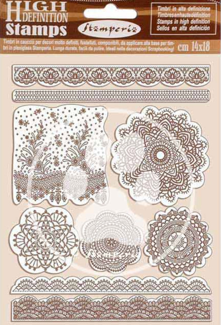 Stamperia HD Natural Rubber Stamp Set - Passion Lace