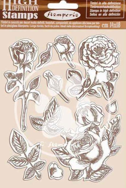 Stamperia HD Natural Rubber Stamp Set - Passion Rose