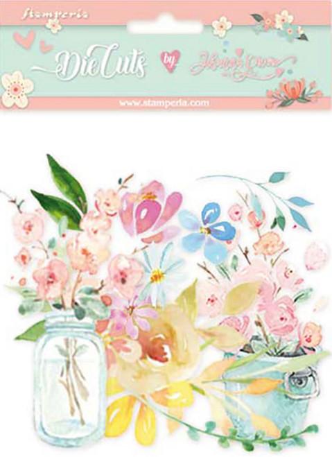 Stamperia Die Cuts Circle of Love Flowers