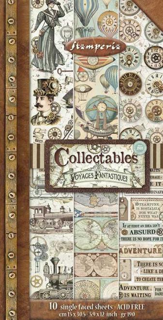 "Stamperia Collectables 6"" x 12"" Voyages Fantastiques"