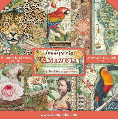 """Stamperia Amazonia 12"""" x 12"""" Paper Collection"""