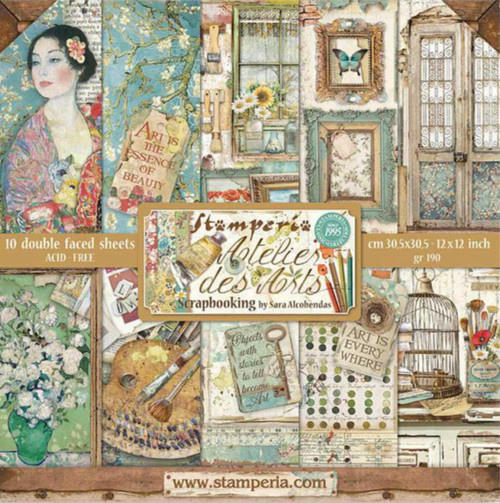 "Stamperia Atelier Des Arts 12"" x 12"" Paper Collection"