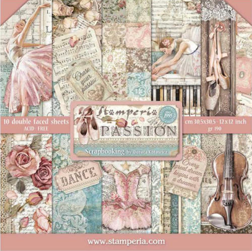 """Stamperia Passion 12"""" x 12"""" Paper Collection"""