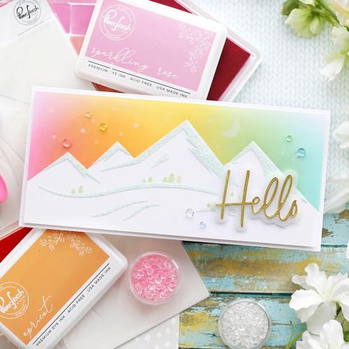 PinkFresh Studio Slimline Mountainscape Layering Stencil Set
