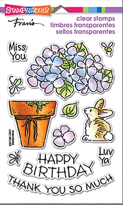 Stampendous Pop Hydrangea Perfectly Clear Stamps