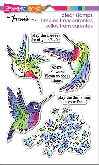 Stampendous Hummingbird Hope Perfectly Clear Stamps