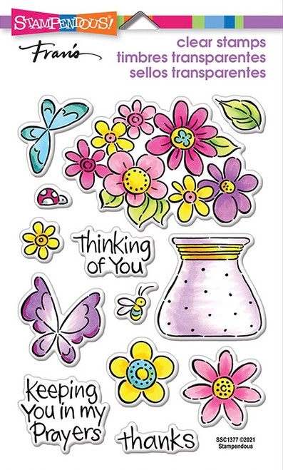 Stampendous Pop Bouquet Perfectly Clear Stamps