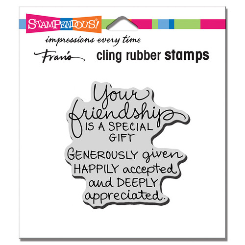 Stampendous Your Friendship Rubber Stamp