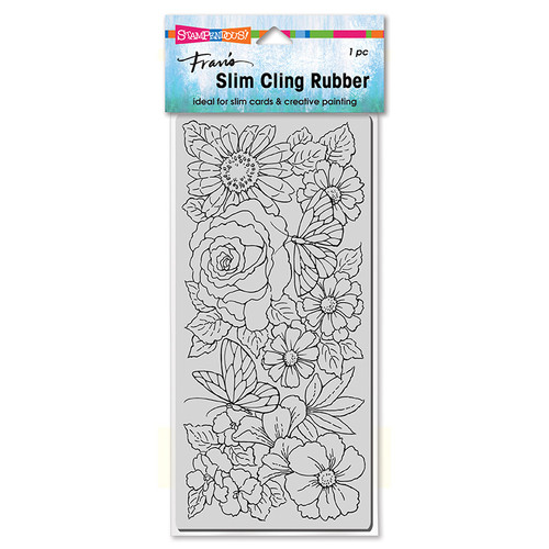 Stampendous Slim Floral Wings Rubber Stamp