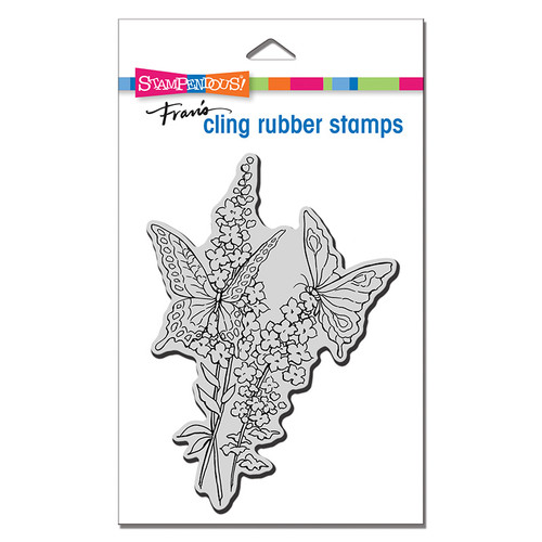 Stampendous Lacy Butterflies Cling Rubber Stamp