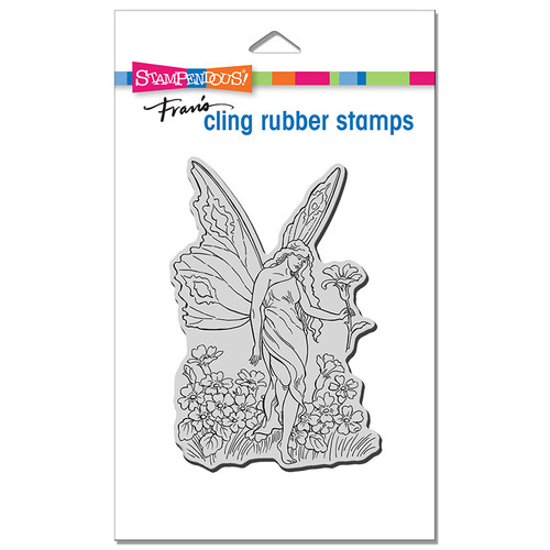 Stampendous Fairy Tiptoe Cling Rubber Stamp