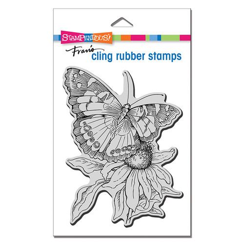 Stampendous Painted Lady Cling Rubber Stamp
