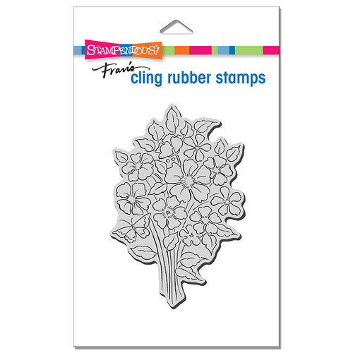 Stampendous Bouquet Blooms Cling Rubber Stamp