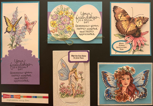 Stampendous Mar. Board - Fairy Wings (5 Cards)