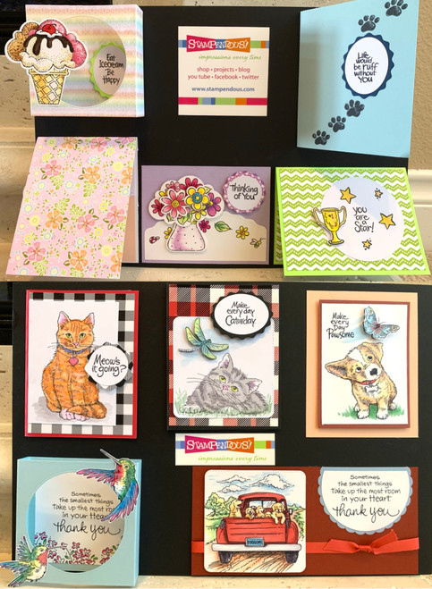 Stampendous Feb. Board - Pets/Flowers (10 Cards)